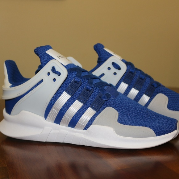 best sneakers d579f 7d799 Adidas EQT Support ADV White & Blue Youth NWT